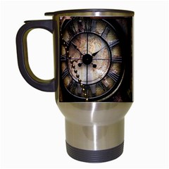 Steampunk, Wonderful Clockwork With Gears Travel Mugs (white) by FantasyWorld7