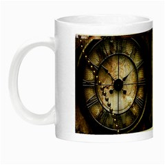 Steampunk, Wonderful Clockwork With Gears Night Luminous Mugs by FantasyWorld7