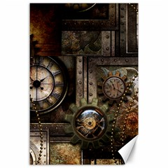 Steampunk, Wonderful Clockwork With Gears Canvas 24  X 36  by FantasyWorld7