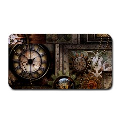 Steampunk, Wonderful Clockwork With Gears Medium Bar Mats by FantasyWorld7