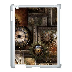 Steampunk, Wonderful Clockwork With Gears Apple Ipad 3/4 Case (white) by FantasyWorld7
