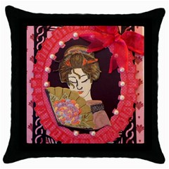 Beauty Throw Pillow Case (black) by DeneWestUK
