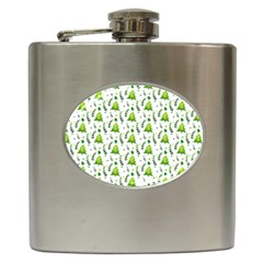 Watercolor Christmas Tree Hip Flask (6 Oz) by patternstudio