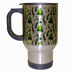 Watercolor Christmas Tree Travel Mug (silver Gray) by patternstudio