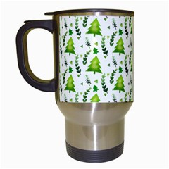Watercolor Christmas Tree Travel Mugs (white) by patternstudio