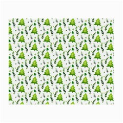 Watercolor Christmas Tree Small Glasses Cloth (2 Side) by patternstudio