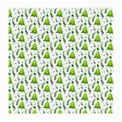 Watercolor Christmas Tree Medium Glasses Cloth (2 Side) by patternstudio