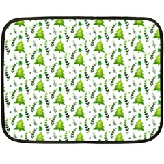 Watercolor Christmas Tree Fleece Blanket (mini) by patternstudio