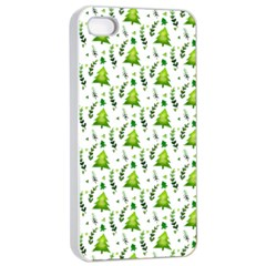 Watercolor Christmas Tree Apple Iphone 4/4s Seamless Case (white) by patternstudio
