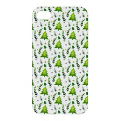 Watercolor Christmas Tree Apple Iphone 4/4s Premium Hardshell Case by patternstudio