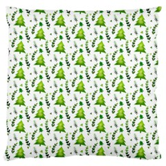 Watercolor Christmas Tree Large Cushion Case (two Sides) by patternstudio