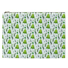 Watercolor Christmas Tree Cosmetic Bag (xxl)  by patternstudio