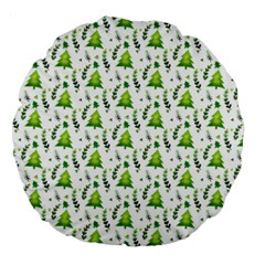 Watercolor Christmas Tree Large 18  Premium Round Cushions by patternstudio