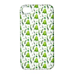 Watercolor Christmas Tree Apple Iphone 4/4s Hardshell Case With Stand by patternstudio