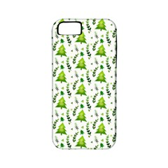 Watercolor Christmas Tree Apple Iphone 5 Classic Hardshell Case (pc+silicone)
