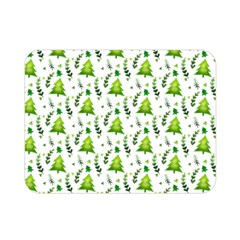 Watercolor Christmas Tree Double Sided Flano Blanket (mini)  by patternstudio