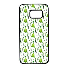 Watercolor Christmas Tree Samsung Galaxy S7 Black Seamless Case by patternstudio
