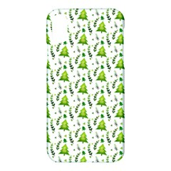 Watercolor Christmas Tree Apple Iphone X Hardshell Case by patternstudio