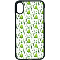 Watercolor Christmas Tree Apple Iphone X Seamless Case (black) by patternstudio