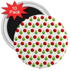 Watercolor Ornaments 3  Magnets (10 Pack)  by patternstudio