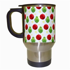 Watercolor Ornaments Travel Mugs (white)