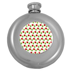 Watercolor Ornaments Round Hip Flask (5 Oz) by patternstudio