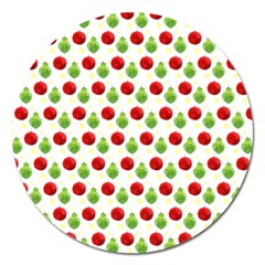 Watercolor Ornaments Magnet 5  (round) by patternstudio
