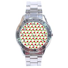 Watercolor Ornaments Stainless Steel Analogue Watch by patternstudio