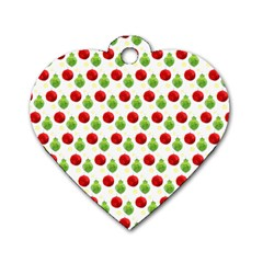 Watercolor Ornaments Dog Tag Heart (one Side) by patternstudio