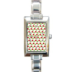 Watercolor Ornaments Rectangle Italian Charm Watch