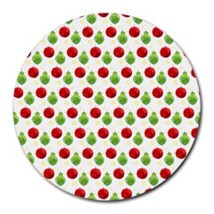 Watercolor Ornaments Round Mousepads by patternstudio