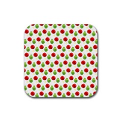 Watercolor Ornaments Rubber Coaster (square)