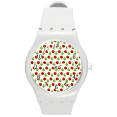 Watercolor Ornaments Round Plastic Sport Watch (m) by patternstudio