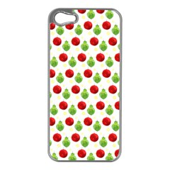 Watercolor Ornaments Apple Iphone 5 Case (silver)