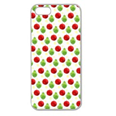 Watercolor Ornaments Apple Seamless Iphone 5 Case (clear) by patternstudio