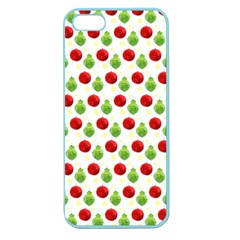 Watercolor Ornaments Apple Seamless Iphone 5 Case (color) by patternstudio
