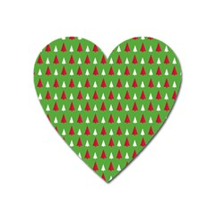 Christmas Tree Heart Magnet by patternstudio