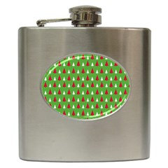 Christmas Tree Hip Flask (6 Oz) by patternstudio