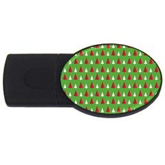Christmas Tree Usb Flash Drive Oval (2 Gb) by patternstudio
