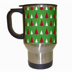 Christmas Tree Travel Mugs (white) by patternstudio