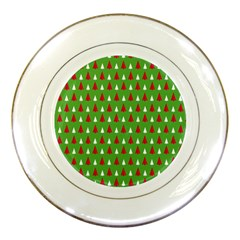 Christmas Tree Porcelain Plates by patternstudio