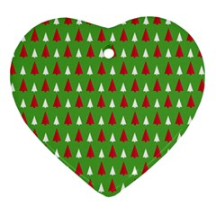 Christmas Tree Heart Ornament (two Sides) by patternstudio