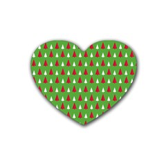 Christmas Tree Heart Coaster (4 Pack)  by patternstudio