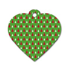 Christmas Tree Dog Tag Heart (one Side) by patternstudio