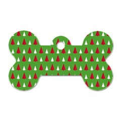 Christmas Tree Dog Tag Bone (two Sides) by patternstudio