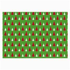 Christmas Tree Large Glasses Cloth (2-side) by patternstudio