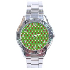 Christmas Tree Stainless Steel Analogue Watch by patternstudio