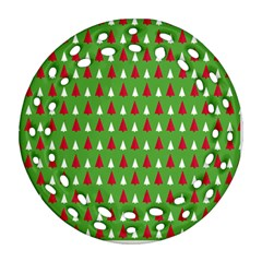 Christmas Tree Round Filigree Ornament (two Sides) by patternstudio