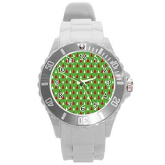 Christmas Tree Round Plastic Sport Watch (l)