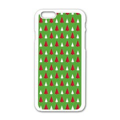 Christmas Tree Apple Iphone 6/6s White Enamel Case by patternstudio